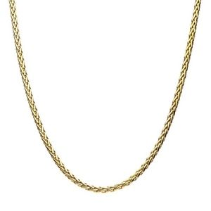 Other - Stainless Steel Gold Plated Spiga Chain Shiny